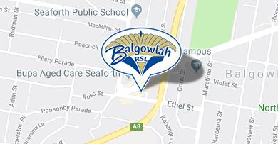 Balgowlah RSL Club map