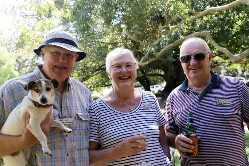 Members at a picnic