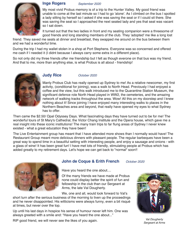 Page 4 Members Memories